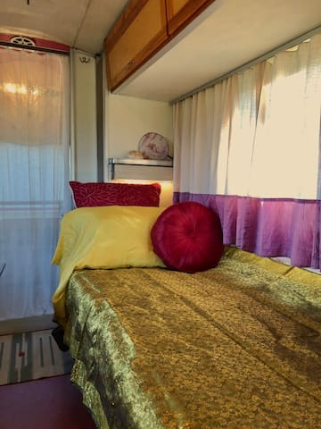 Comfortable Single bed with Curtains Closed
