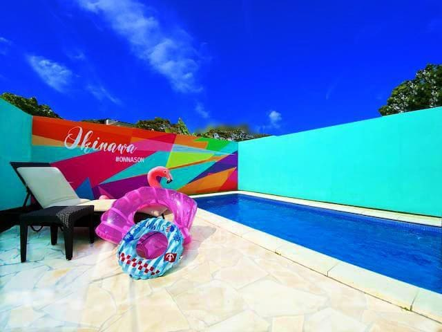 90 Private Pool♡Onna/BabyFriendly/3BR/Max14ppl/A