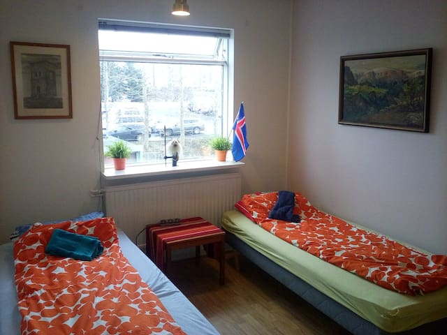 Cozy room walking distance from center - Reikiavik - Apartamento