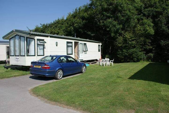 Family owned caravan situated at Haven Lakeland