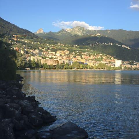 Montreux , vue sur montagne et lac - Clarens - Lägenhet