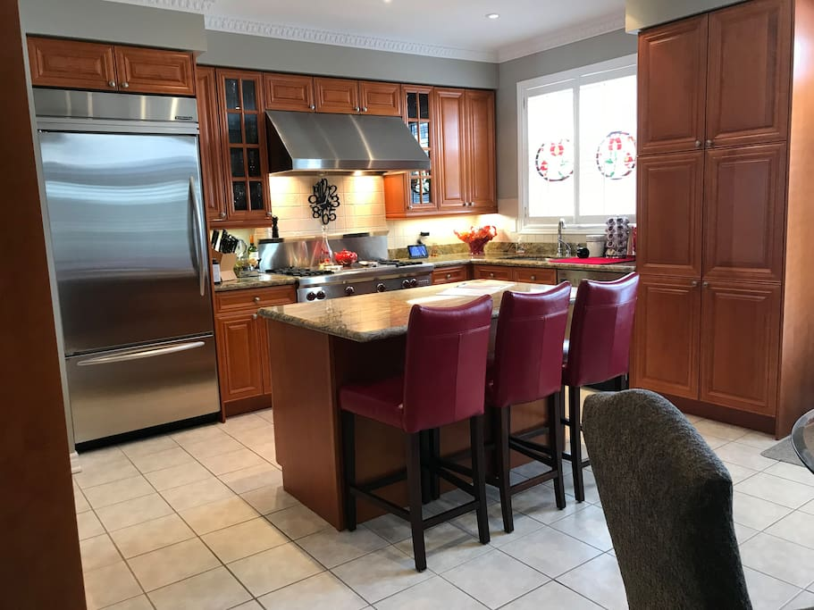 Shared kitchen available for longer term stays.