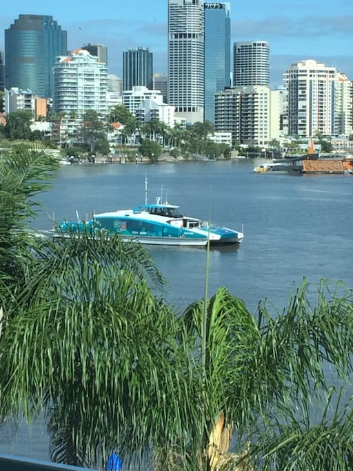Citycat is a short stroll from your door (5 minute walk) citycat will get you to the CBD, Southbank, university of Queensland and Portside Wharf.