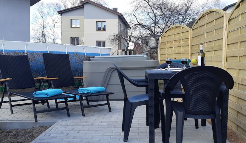 Apartment in Vilnius with SPA Jacuzzi and sauna