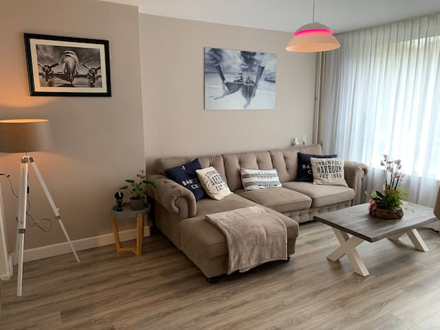 4 room apartment near The Hague and Rotterdam.