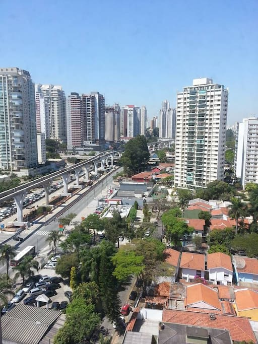 Vista do alto do edifício - bairro do Campo Belo