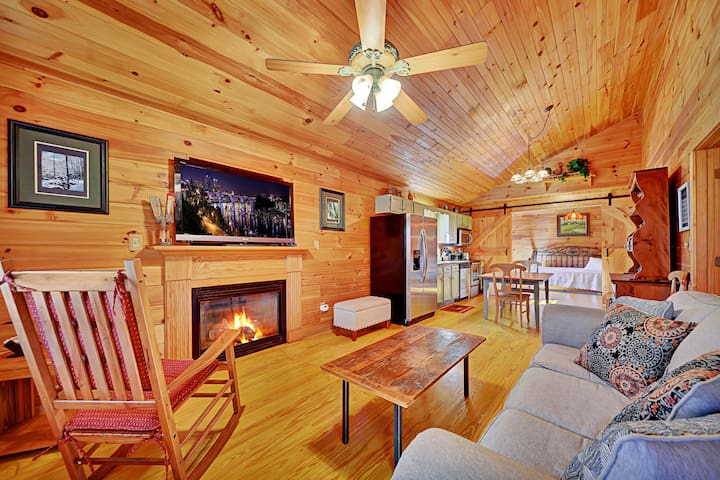 Large living room/kitchen area