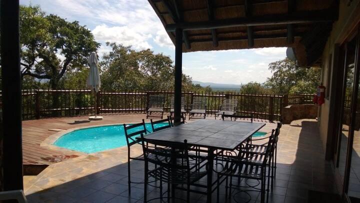 Private villa + pool + safari