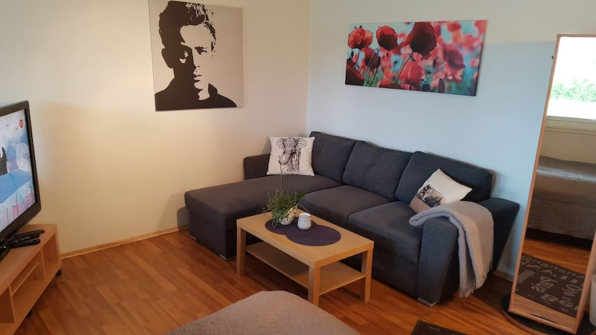 Modern apt by the airport,only 50 m from the Sea-3 - Bergen - Apartment