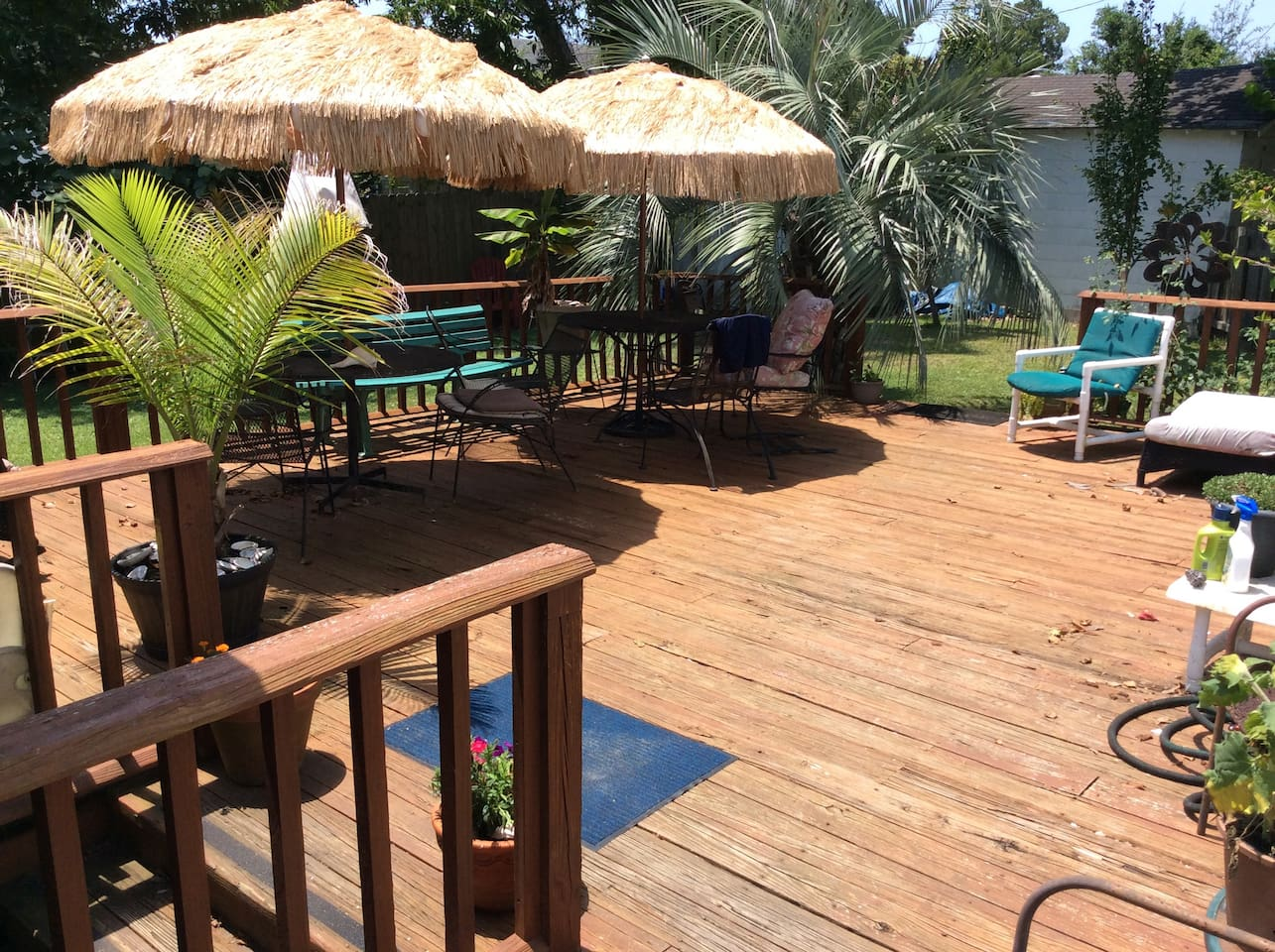 Large deck and grill available for relaxing.