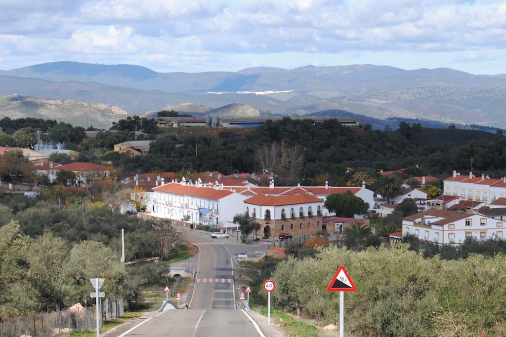 entrada al pueblo