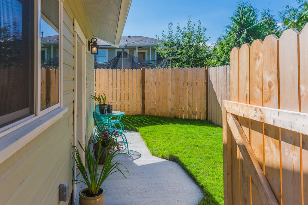 Private & Fenced Yard