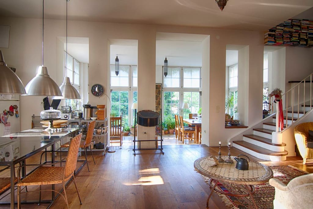 Kitchen and orangerie
