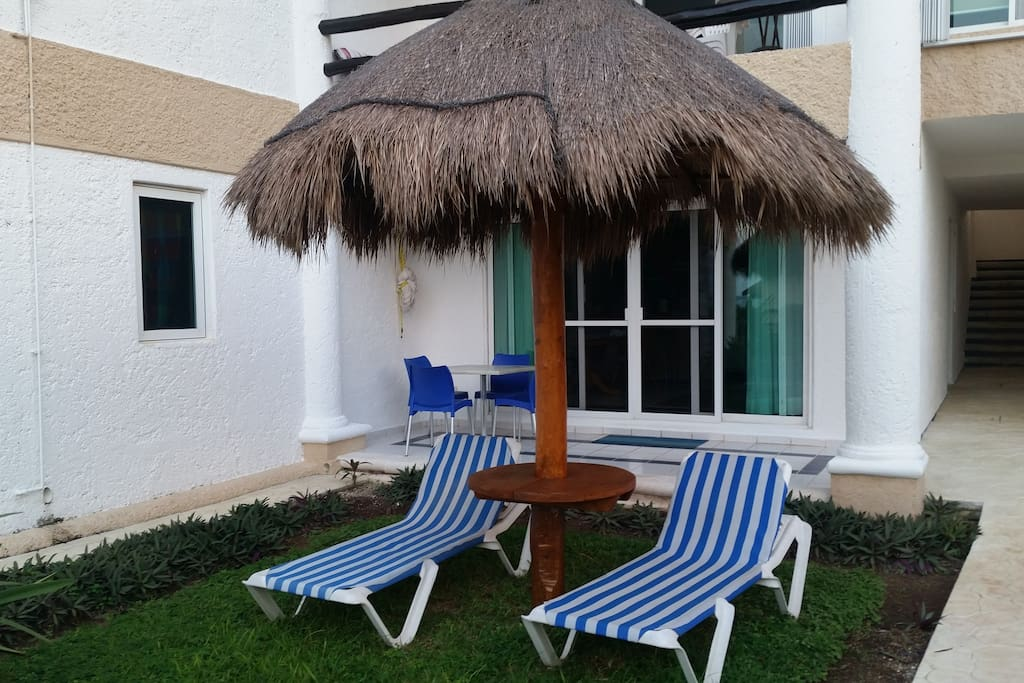 Only Condo with a palapa right in front