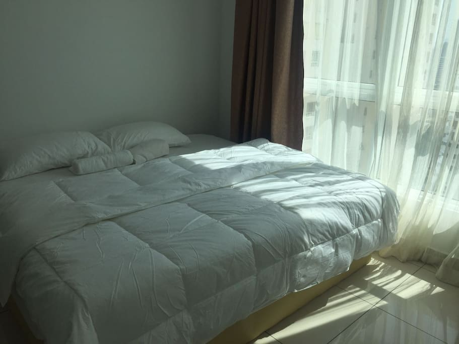 Second bed room with Glass door ( partially matted) - with additional mattress