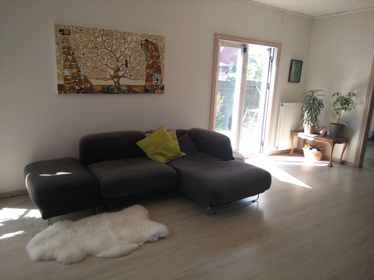 Our cosy and spacious living room: full of light even on a cloudy day:)