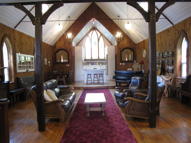 Upper apartment in a converted church built in the 1800's