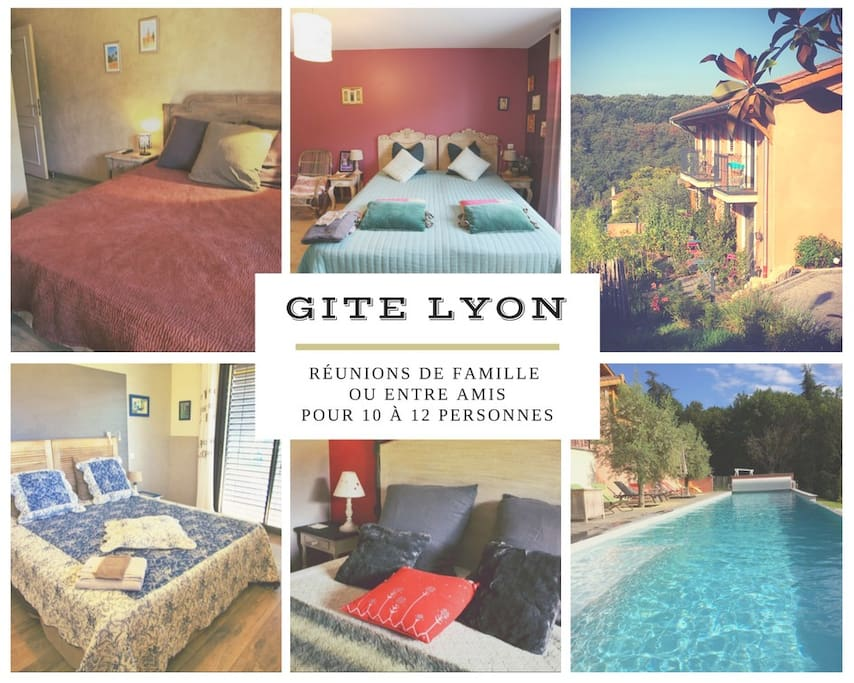 Gite Lyon/Ecully, pour réunions de famille ou entre amis, enterrement de vie de jeune fille