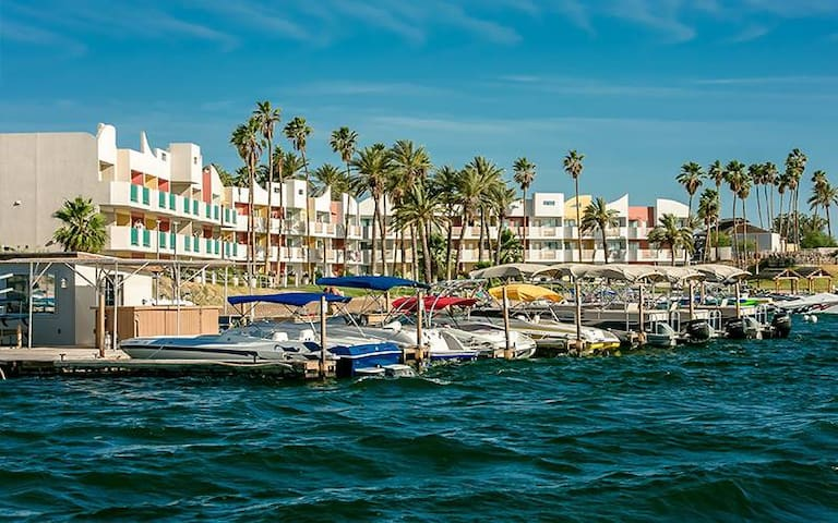 Lake Havasu Beach Front/Lake View Suite! Sleeps 4!