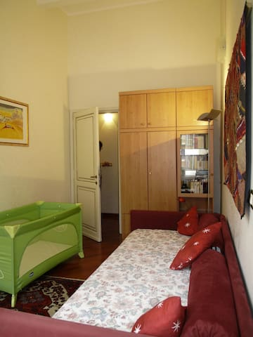 Second bedroom with crib for children until 3-4 years