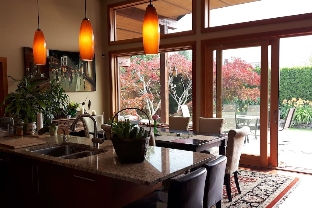 Enjoy your homemade breakfast in our dining room with mountain views.