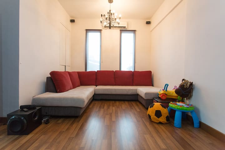 The rumpus room. Perfect for kids to hang out in. If you require additional mattresses, we are able to place it in this room.