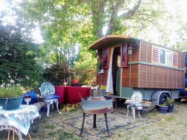 Gypsy Wagon w breakfast & a new private bathroom!