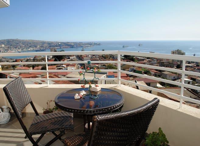 Espectacular vista a la Bahía de Valparaíso. - Valparaíso - Apartment