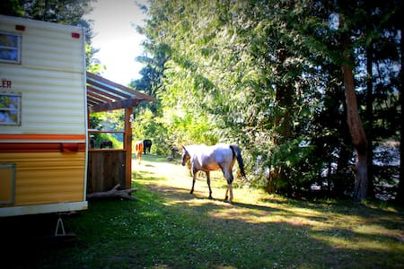 Trailer's Flow on Organic Seaside Farm - Salt Spring Island - Kamp Karavanı/Karavan