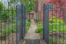 Your private access through the Pennsylvania Street garden gate.