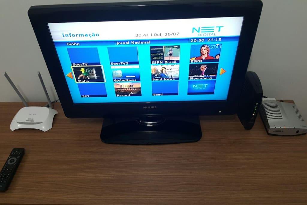 TV com NET e Wi-fi!