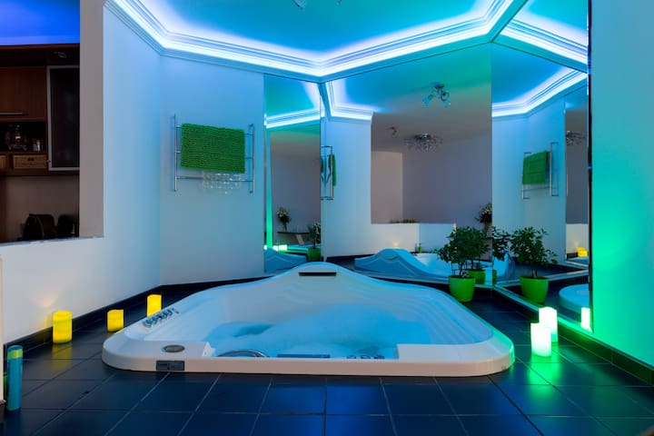 Luxury relax at the Castle/private Jacuzzi&Garage