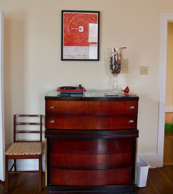 Dresser with record player