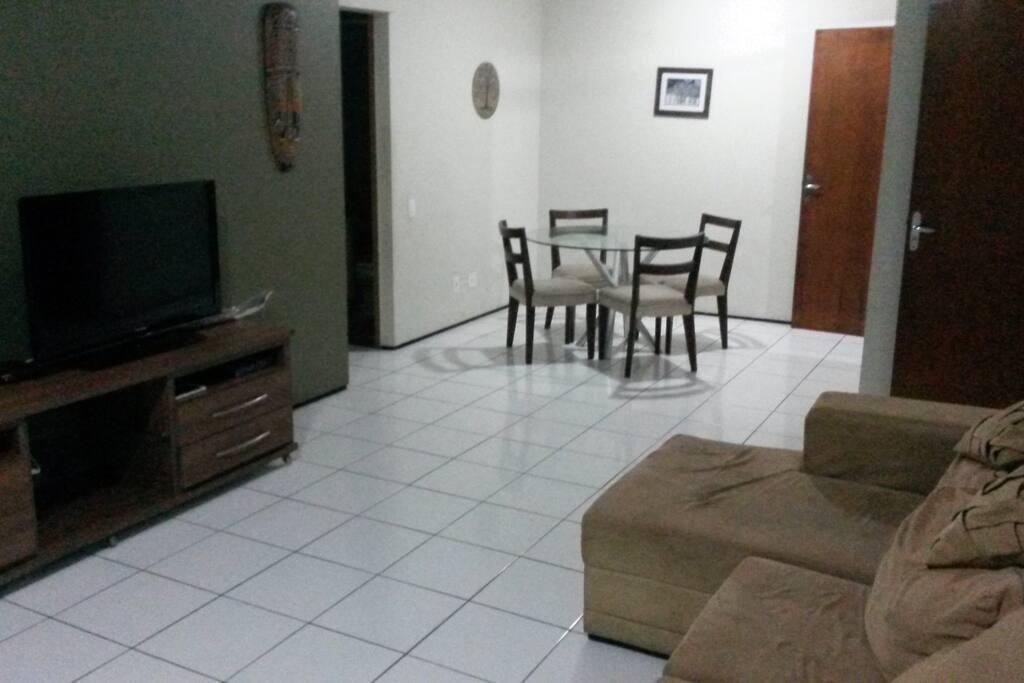 Visão invertida das salas.