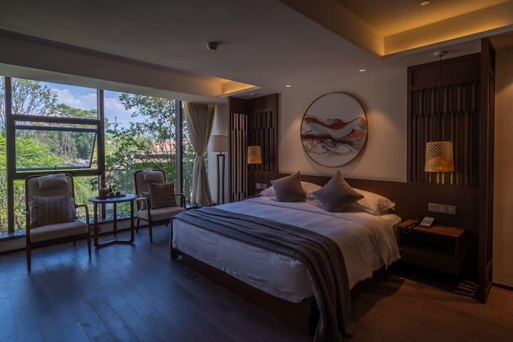 【海河天街】新中式领地隐居酒店山舍房、花园房