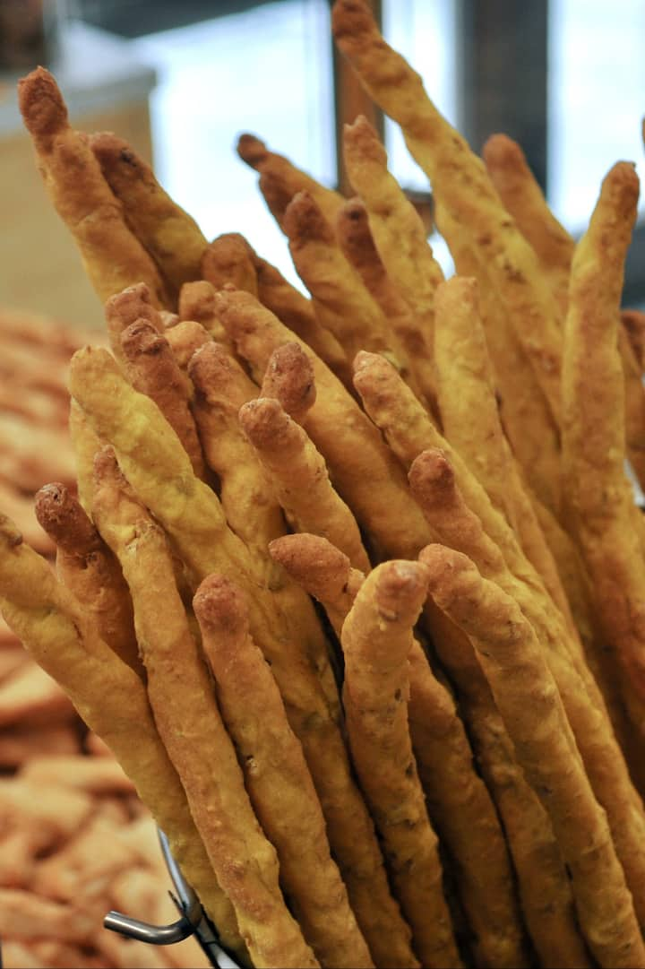 Handmade breadsticks