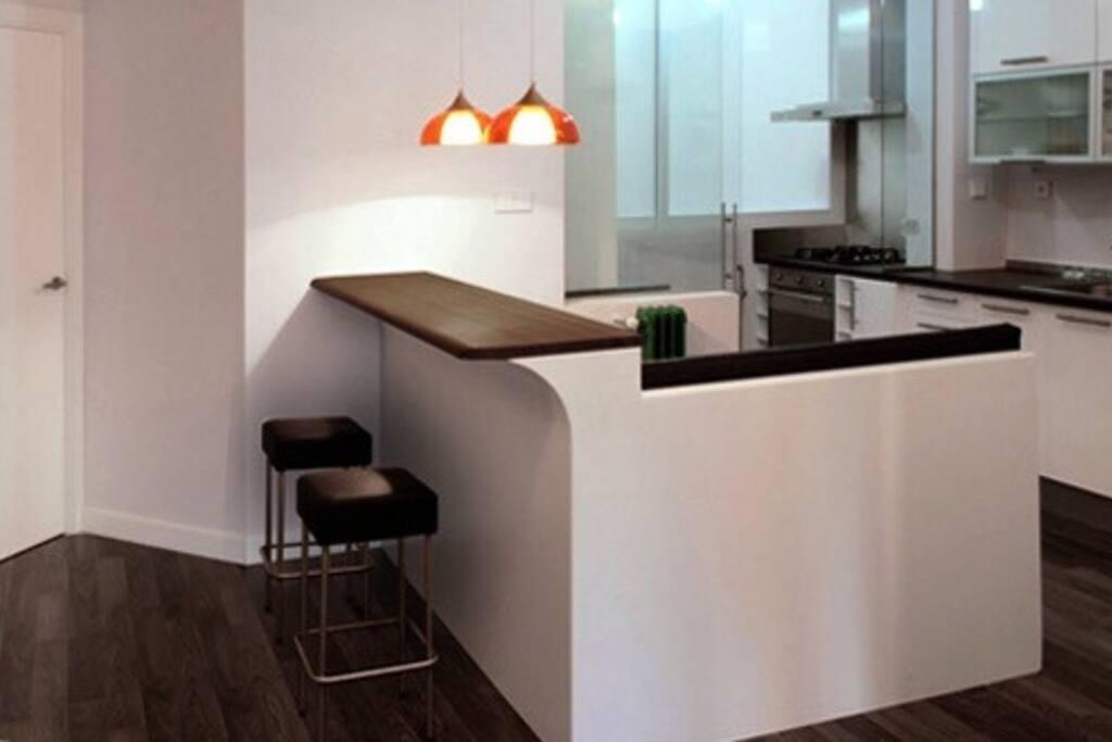 Cocina americana / Opened Kitchen