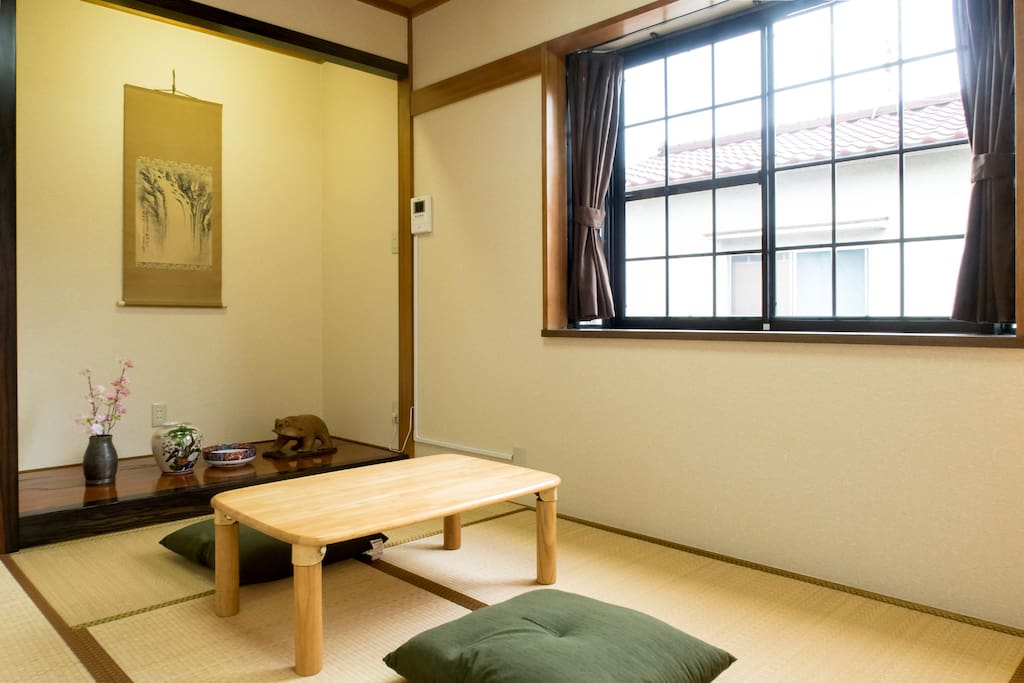 Ryokan style (Traditional Japanese hotel style) for 3 people