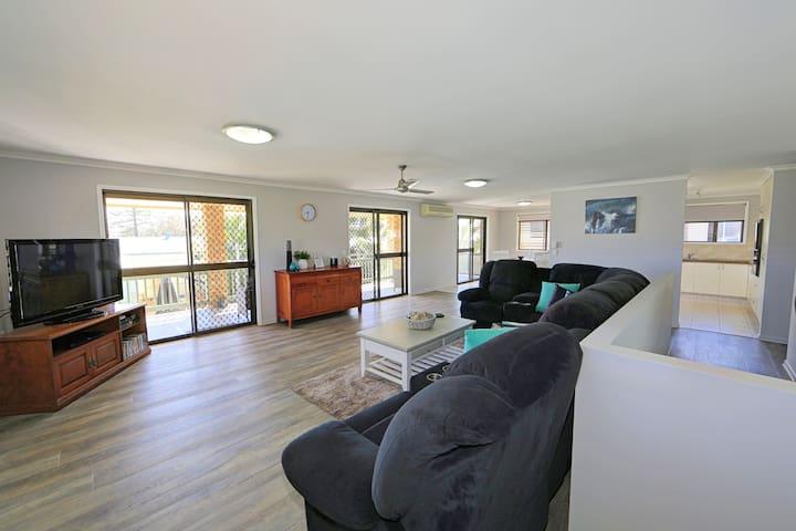 upstairs lounge room  Woodgate holiday rental