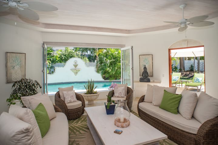 True indoor outdoor Caribbean living.