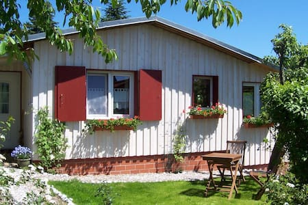 Holiday home in the South Harz with stove, terrace, garden and terrific view
