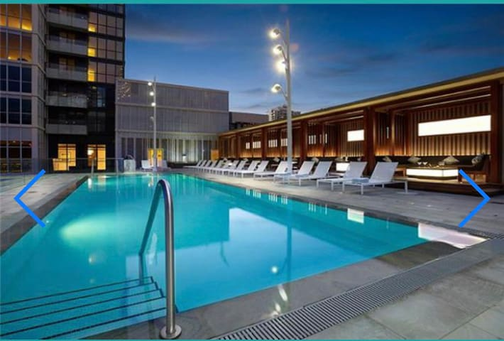 Luxury 1 bdrm with rooftop pool *5star*