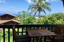 Have a tropical cocktail on your private lanai with this view...