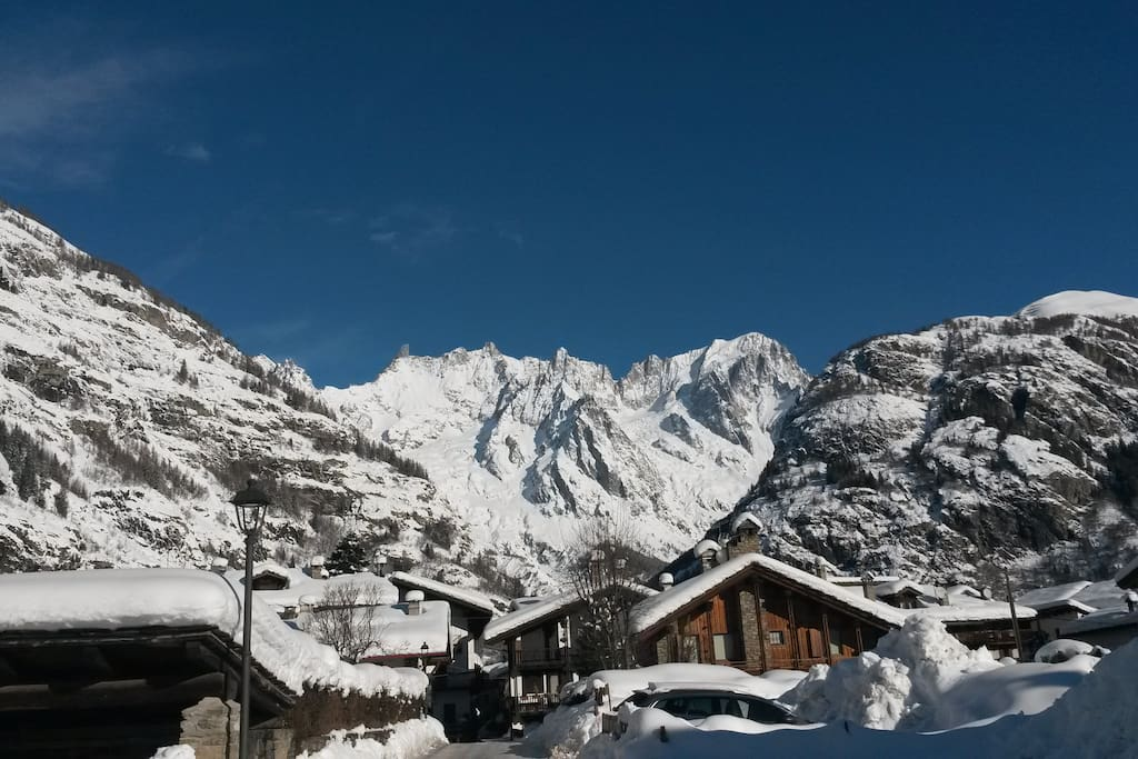 winter view of the Mont Blanc