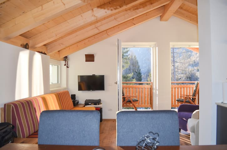 Dolomites, mountain view attic, Val di Fiemme
