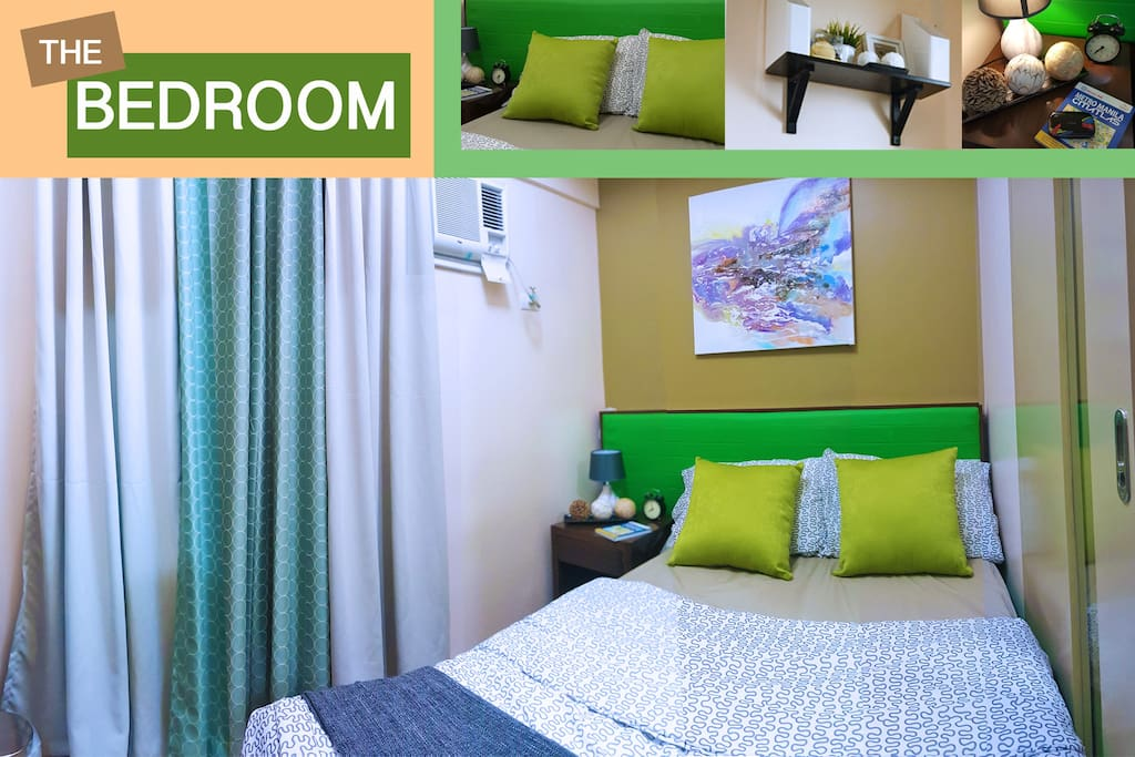 One Bedroom with queen size bed suitable for two guest.