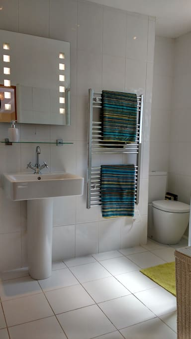 Modern ensuite with power shower