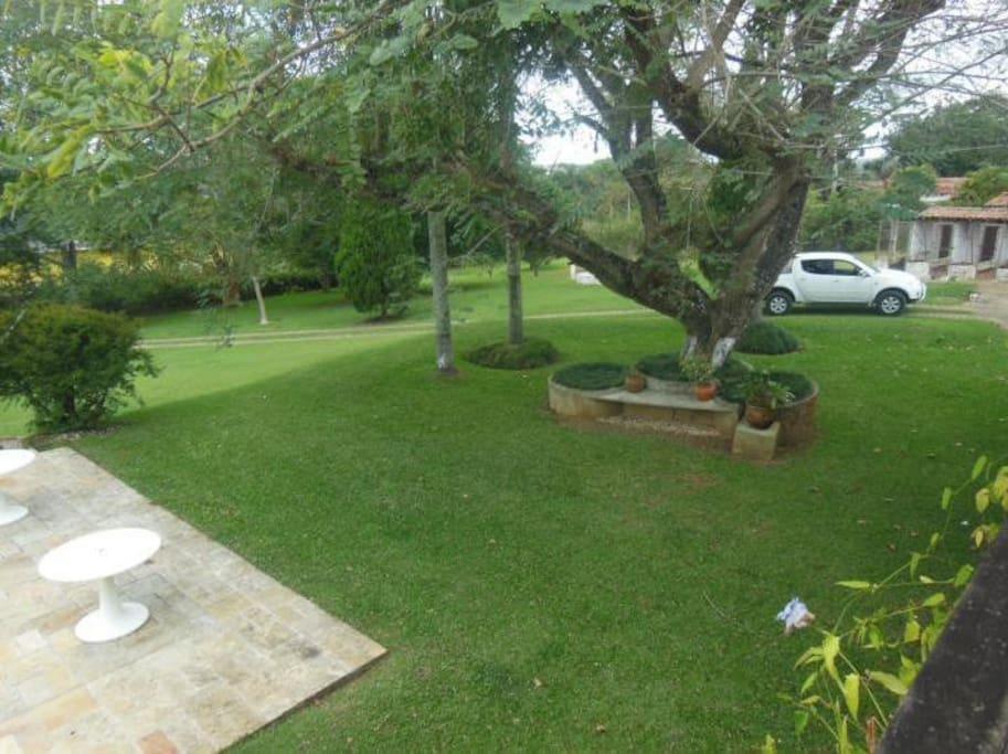 Jardim visto da varanda
