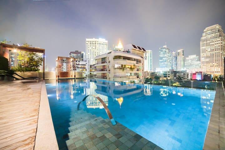 Luxury1BR-J@Asok&NaNaBTSw/KingBed【24hCheck in】2~4P