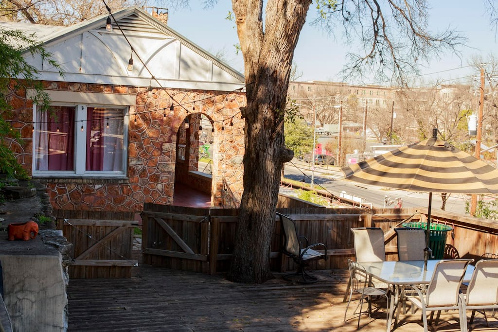 Our huge patio overlooks one of the most unique and beautiful parts of Austin!